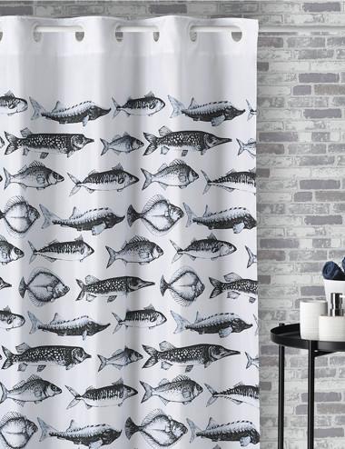Cortina de baño mágica Fish